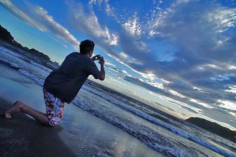120716逗子海岸夕景3