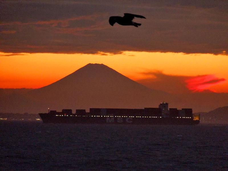 120814東京湾フェリー夕焼け6
