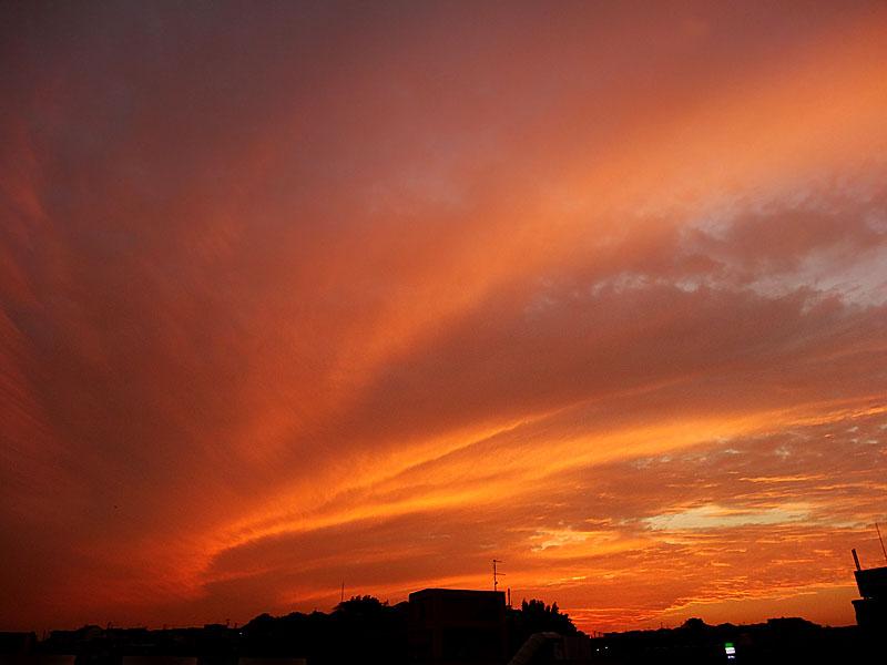 121015オーロラのような夕焼け1