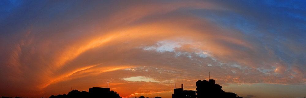 121015オーロラのような夕焼け2