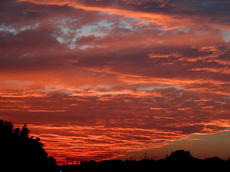 121015オーロラのような夕焼け3