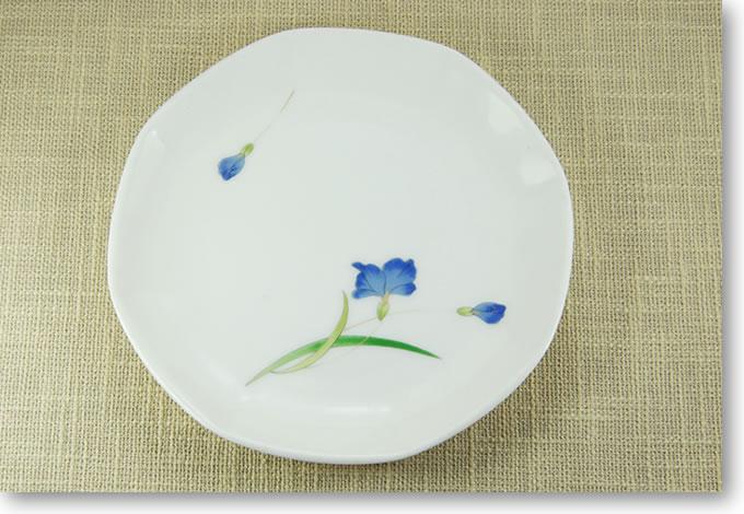 長龍の青い器シリーズ 角皿