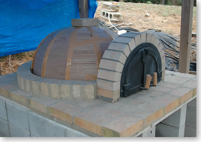 石窯ドーム部の曲げベニヤ型