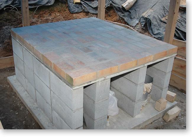 石窯-煉瓦一段目が完成
