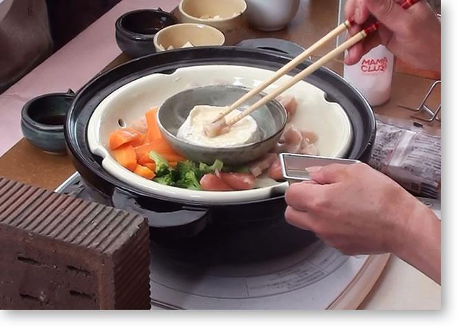 長谷園のIH対応の蒸し鍋