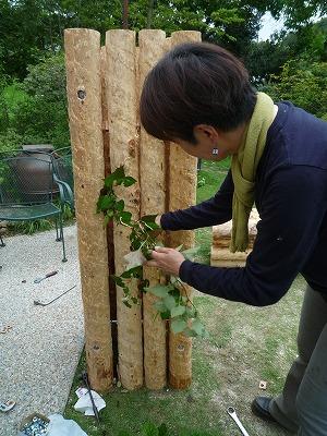 門柱製作ボルト通し完成品に緑をP1030416