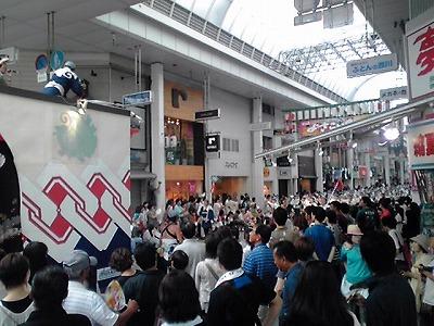 yosakoi,商店街の中で連、KC3T0195