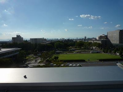 012,9,12、豊田講堂屋上から西眺望、P1030650