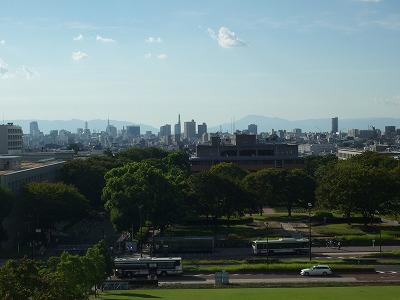 012,9,12、豊田講堂屋上から西眺望アップ、P1030651