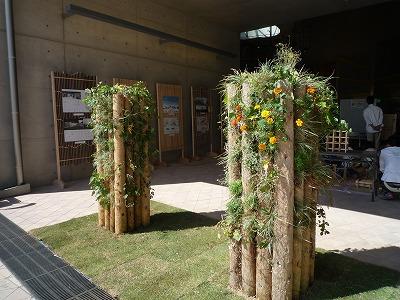 木愛の会ブース、門柱2本、P1030718