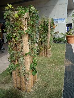 木愛の会ブース、門柱2本、P1030730