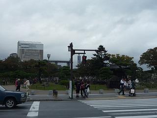 10,28,姫路城仮設遠景、P1030807