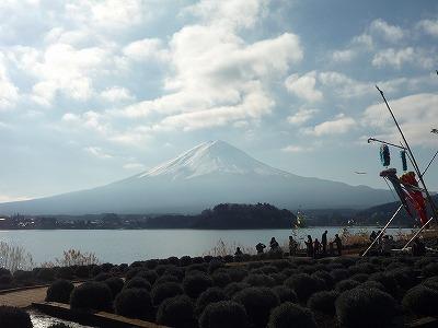 013,1,7,河口湖からの富士、P1040080