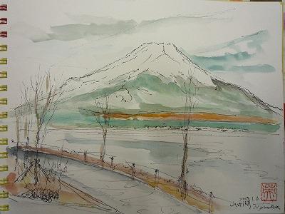 s-013,1,6,山中湖からスケッチ、P1040097