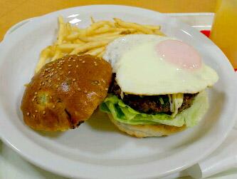 広島菜バンズの和牛バーガーセット