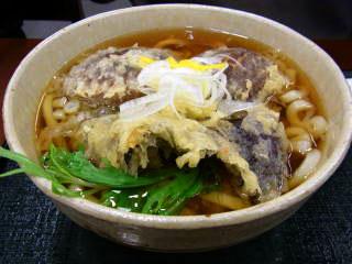 ジャンボ椎茸天ぷらうどん