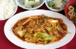 辛みそ野菜炒め定食
