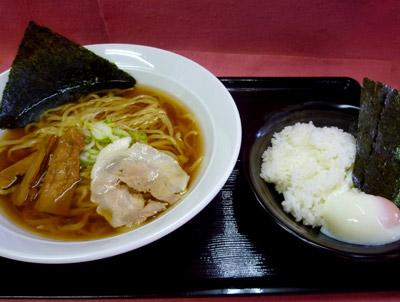 吾妻 醤油麺Aセット