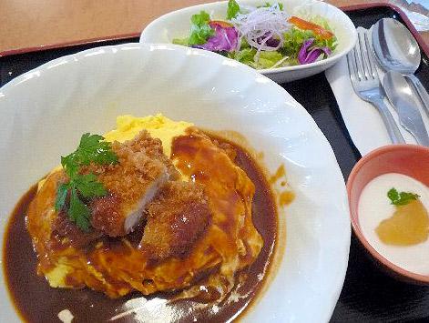 オムカツ丼