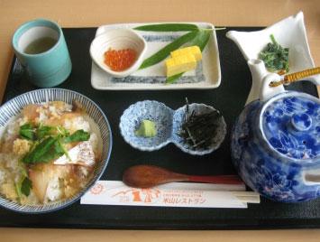 名物グルメ-鯛茶漬け
