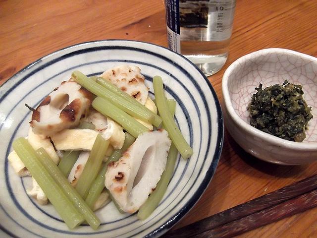 蕗の葉味噌と煮合わせ