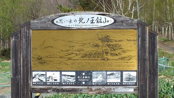 北の王鉱山看板