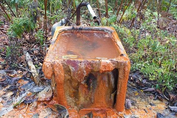 美川上流の冷泉