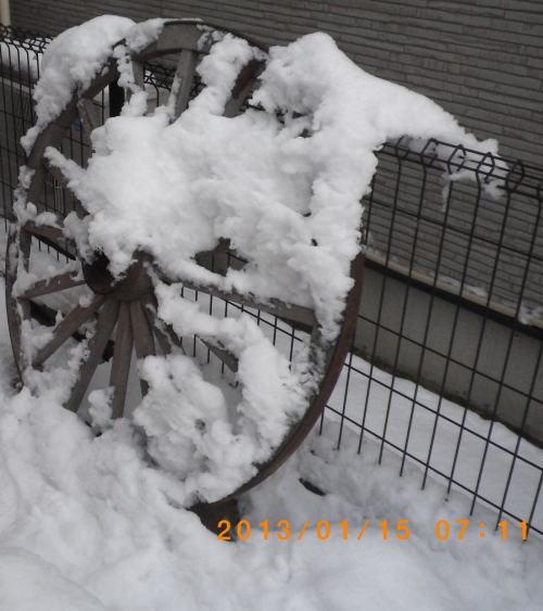 2013年1月15日 通路で2個目の車輪