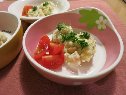 朝ご飯 鱈のポテトサラダ