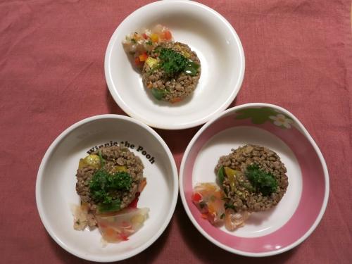 朝ご飯 ひき肉とお芋のあんかけ炒め
