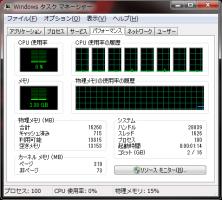 Windows 7 タスクマネージャ