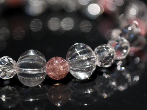 クリスタル水晶とピンクトルマリン6個 画像4