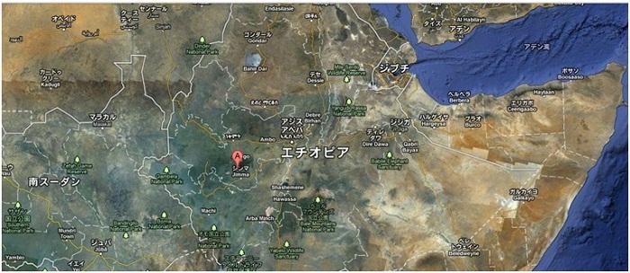 エチオピア地図