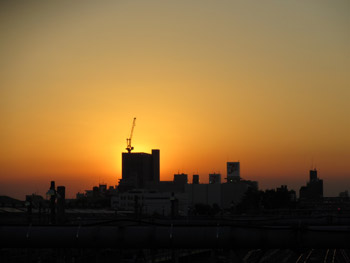 夕陽の観察