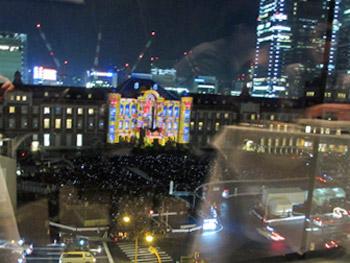 東京駅ライトアップ