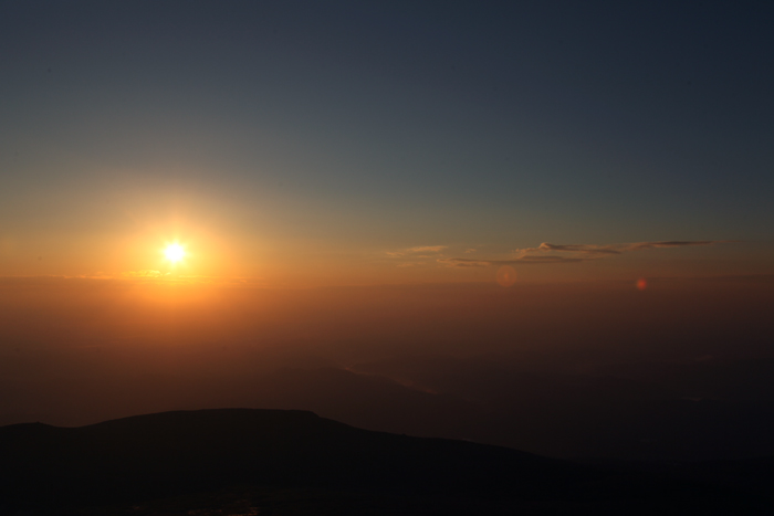 2014年10月19日 山頂から見た日の出