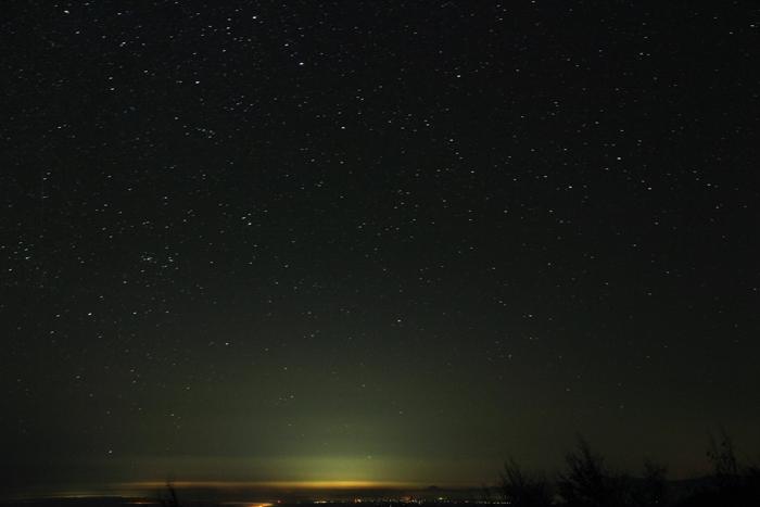 2014年10月26日 いわかがみ平より見た南の空