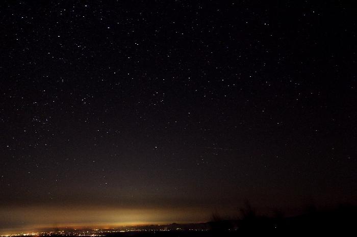 2014年10月31日のいわかがみ平からの南の空