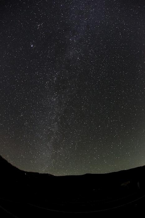 栗駒山に流れる天の川2014年10月31日(いわかがみ平)