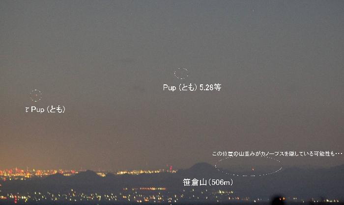 いわかがみ平からの南天2014年11月8日