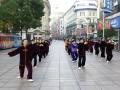 上海南京路歩行者天国の朝