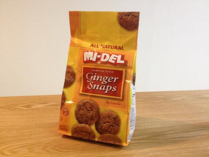 Mi-Del Cookies, Swedish Style Ginger Snaps, 10 oz (284 g)