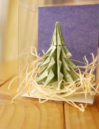 折り紙クリスマスツリー2010