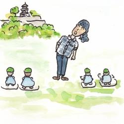 丸亀城を描きに行こう