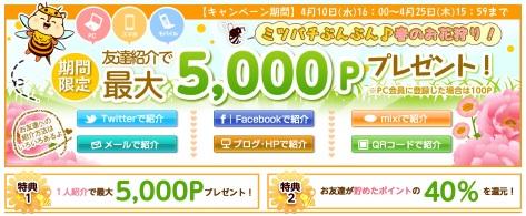 MOPPYお友達紹介キャンペーン2013年4月