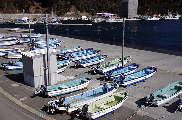 綾里の漁船
