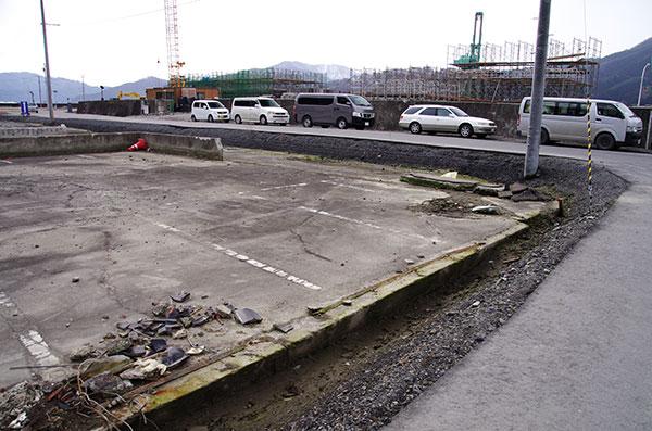 かさあげされた釜石の道路