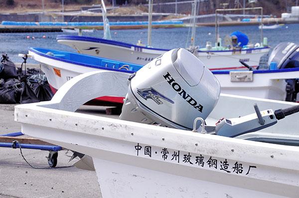 中国で造られた漁船