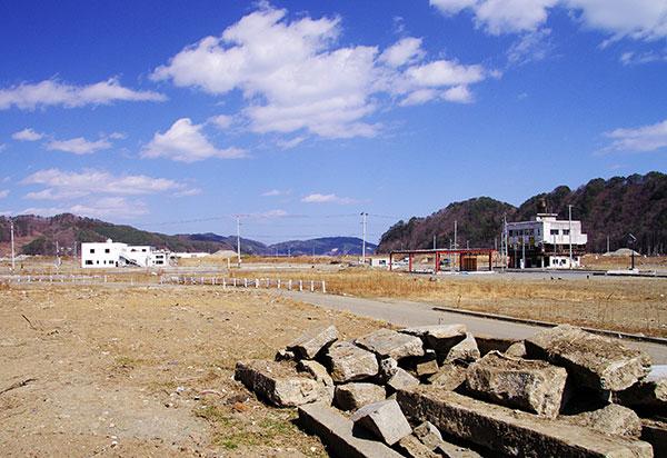 鵜住居の津波跡
