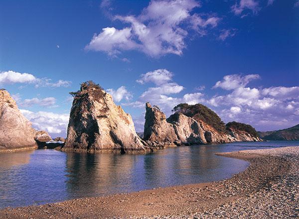 震災前の浄土ヶ浜